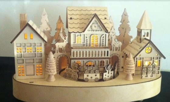 Inno Value Enterprise Co Ltd Wooden Christmas Village